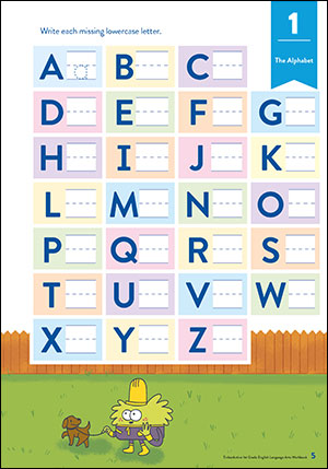 TinkerActive First Grade English Worksheet