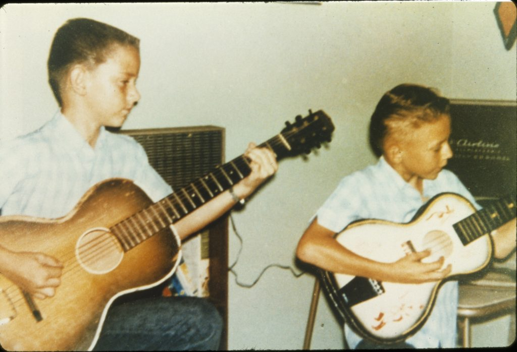 Stevie and Jimmie playing guitar. Photo courtest of Jimmie Vaughan