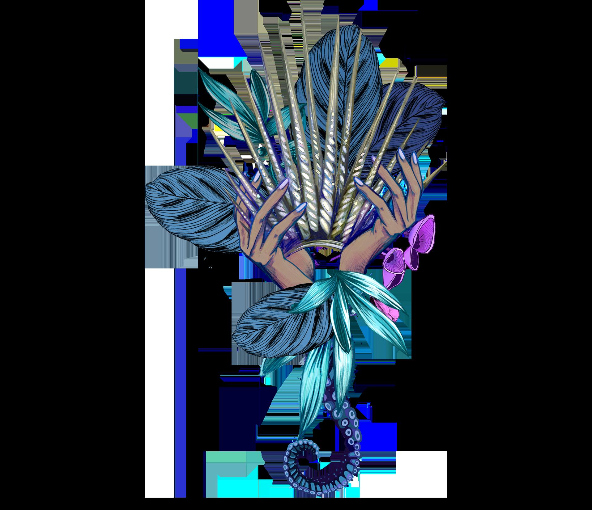 hands crown