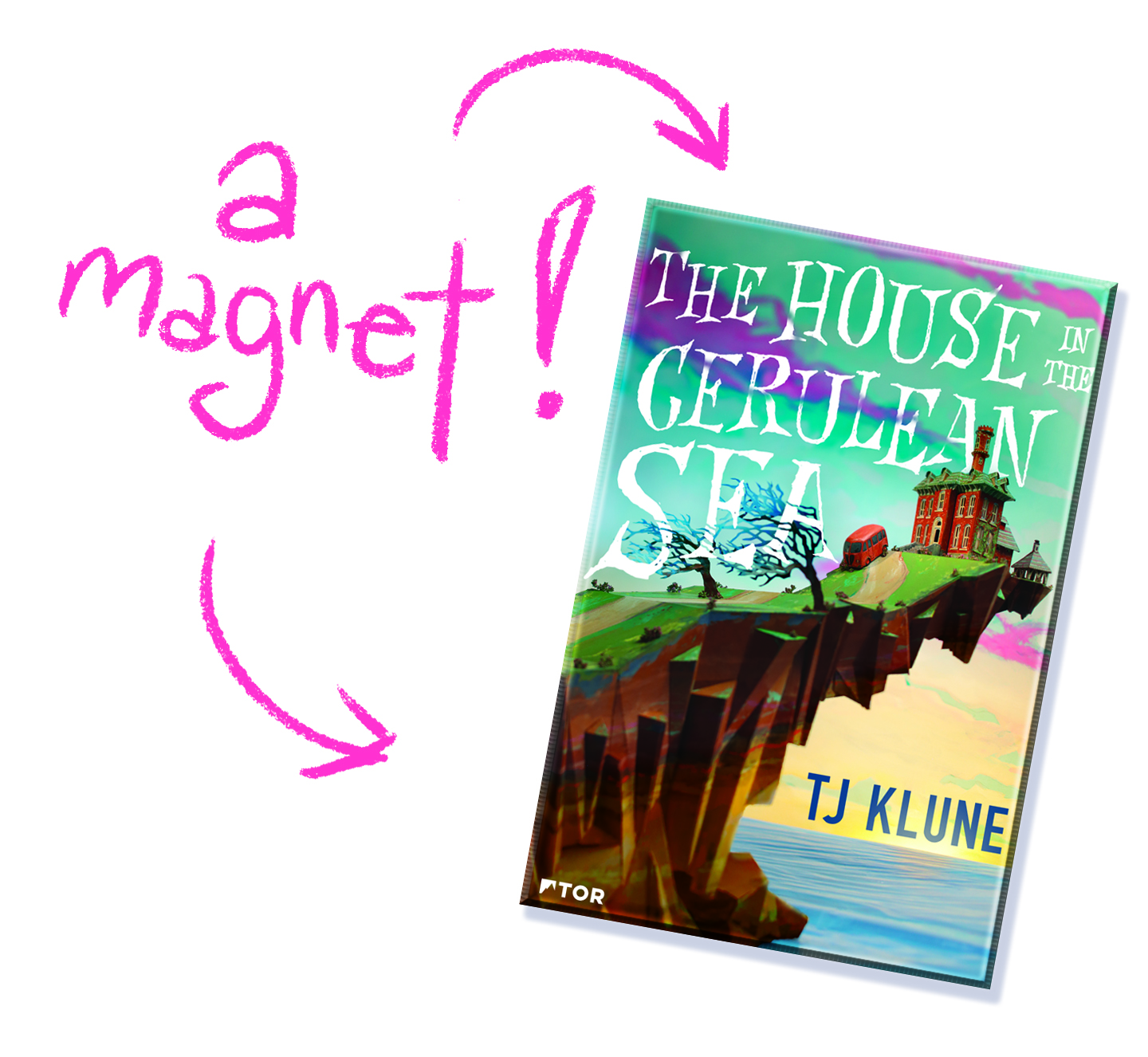 House in the Cerulean Sea Magnet