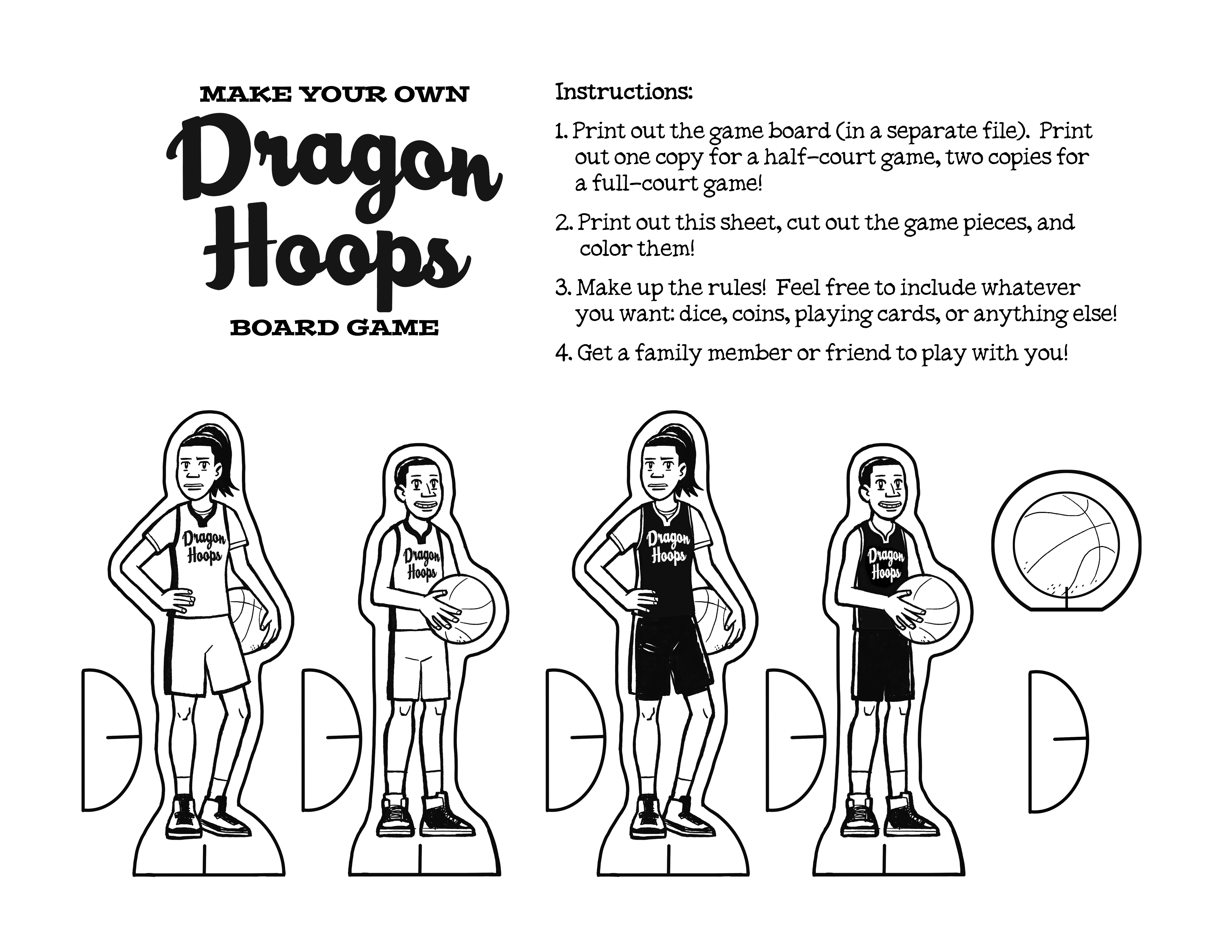 Dragon Hoops Game Pieces